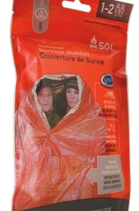 Advanced Medical S.O.L. Heatsheets Survival Blanket Fits 2 People