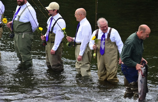 Bushkin River Fly Fishing Wedding