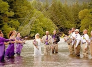 fly fishing Alaska wedding