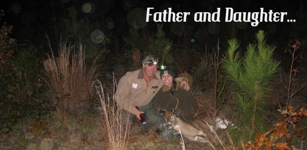father and daughter hunting
