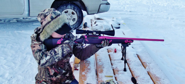 woman rifle deer season