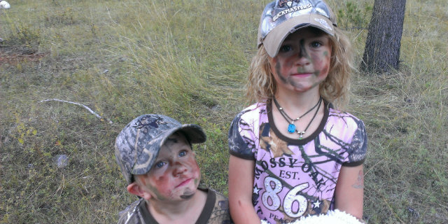kids out hunting