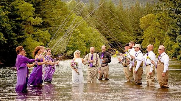 fishing wedding cake island 2 alaskan fly fishing guides tie the knot 14290